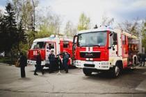 Мальчишеская радость: выставка пожарной техники