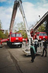 Выставка пожарной техники в Бийске