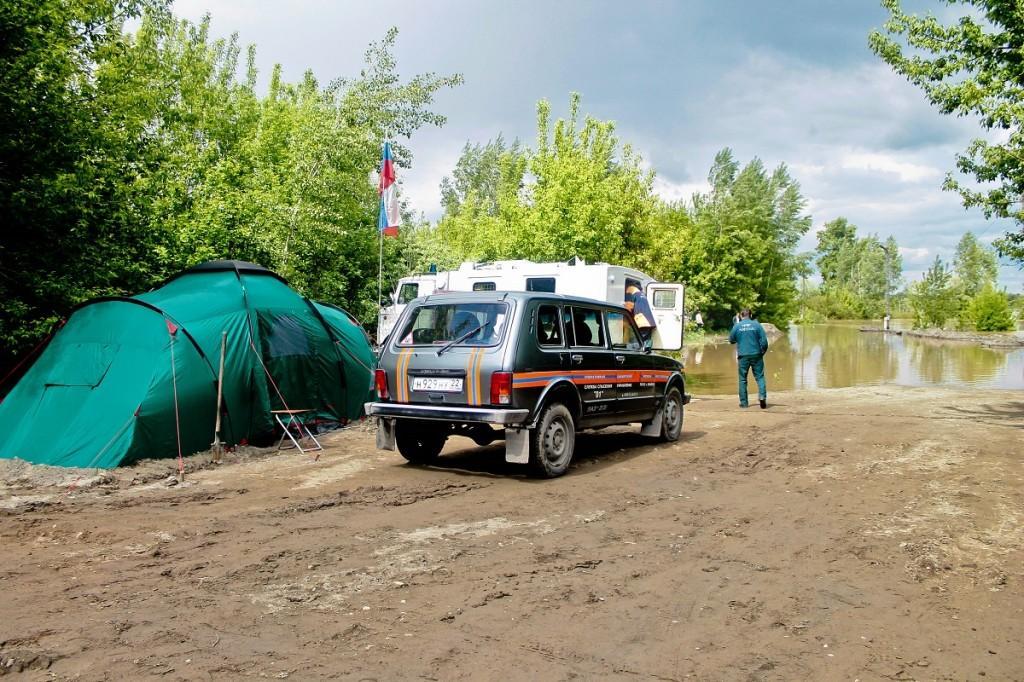 Наводнение в Бийске. Служба спасения