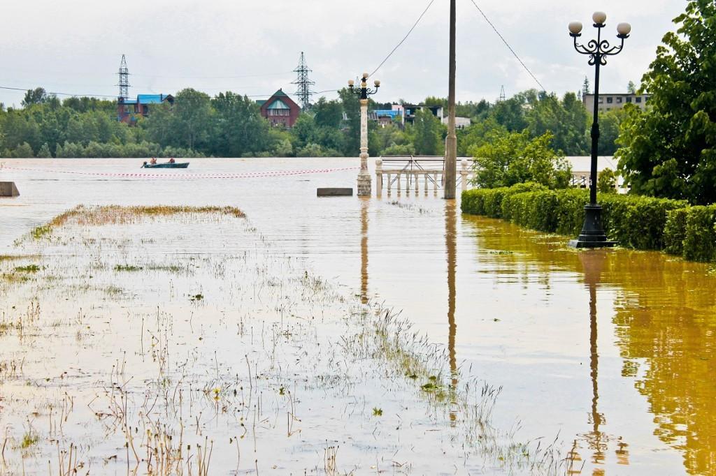 Парк победы. Наводнение в Бийске 1 июня 2014 года