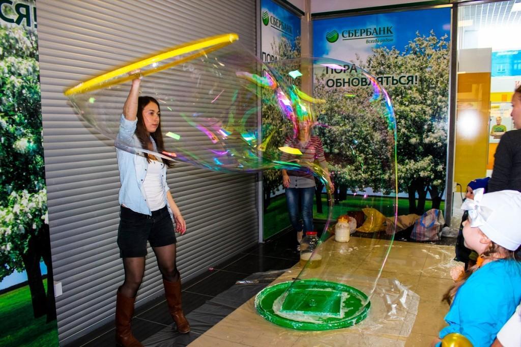 День защиты детей в ТЦ Созвездие. Мыльный пузырь