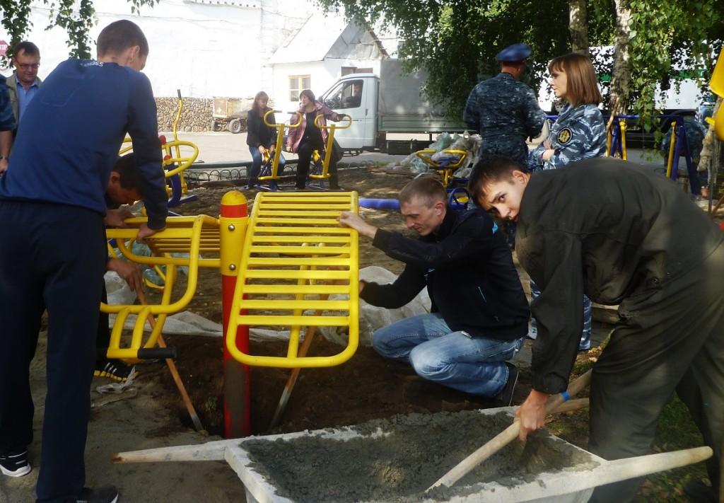 Строительство спортивной площадки по ул. Чехова в Бийске