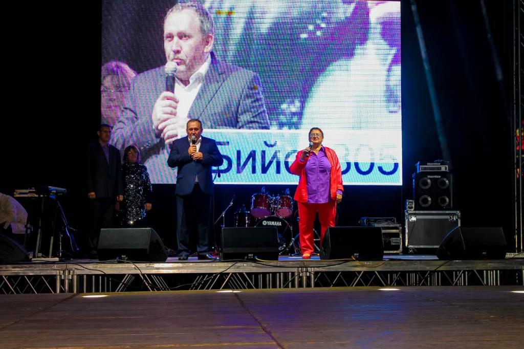 День города 2014 на Зеленом клине. 305 лет Бийску. Николай Нонко и Лидия Громогласова