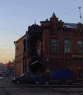возгорание музея в Бийске. Пожар