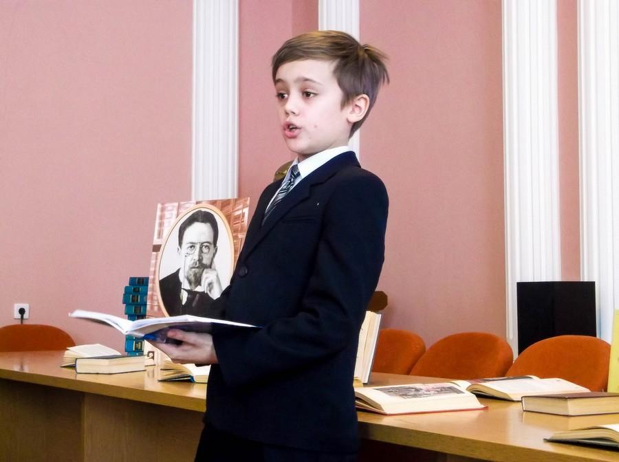 Участник мероприятия, посвященного 155-летию А. П. Чехову