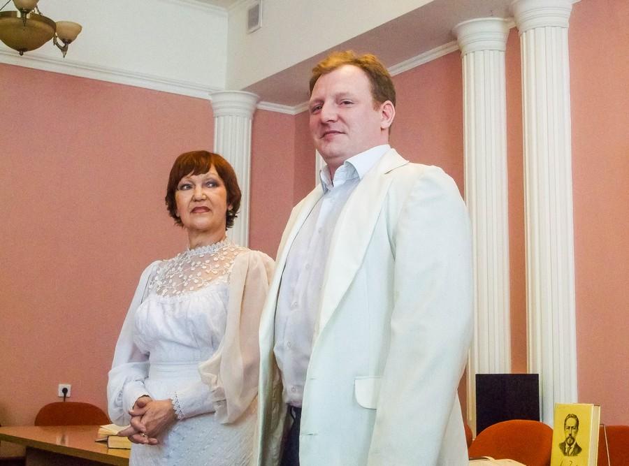 Участники мероприятия, посвященного 155-летию А. П. Чехову