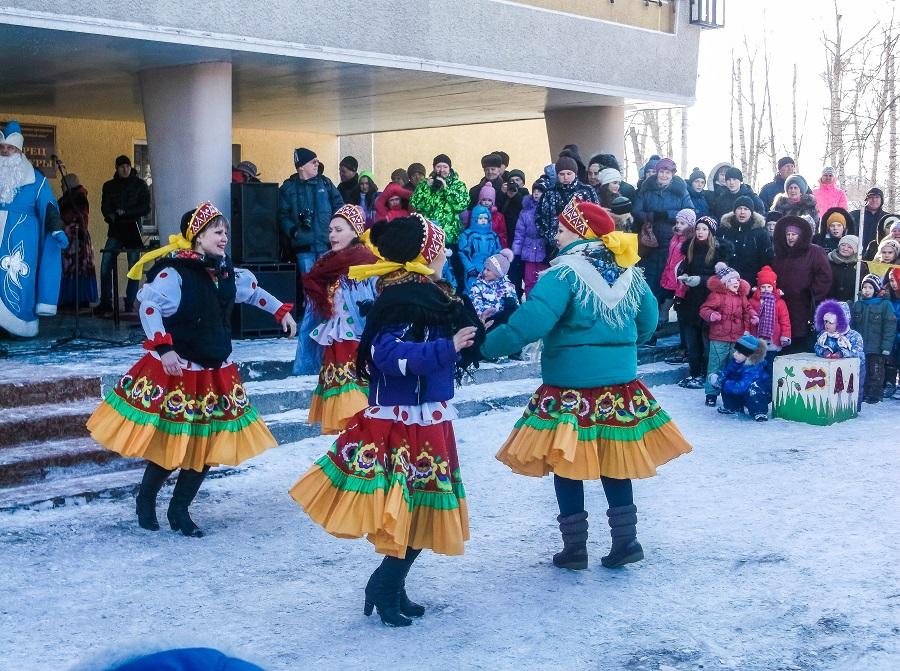 Танцы зимой