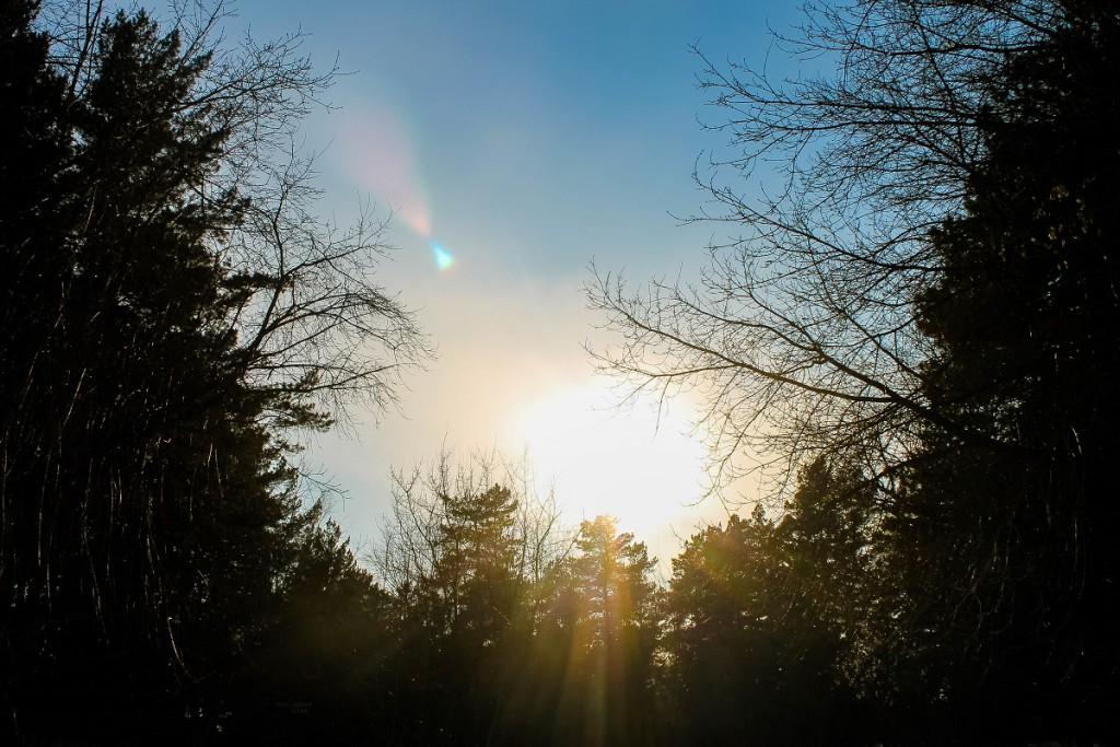 Затмение солнца. Небо