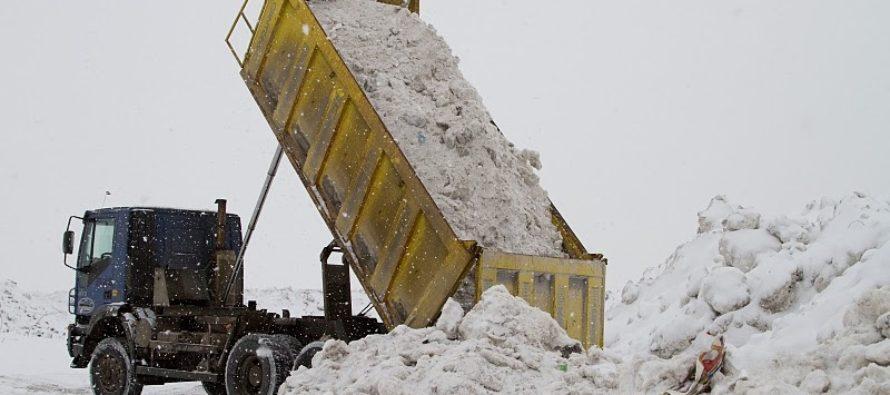 В Бийске определены две площадки для складирования снега