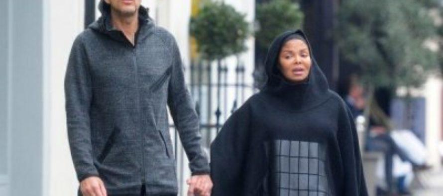 В Лондоне беременная Джанет Джексон прогуливалась в мусульманском наряде