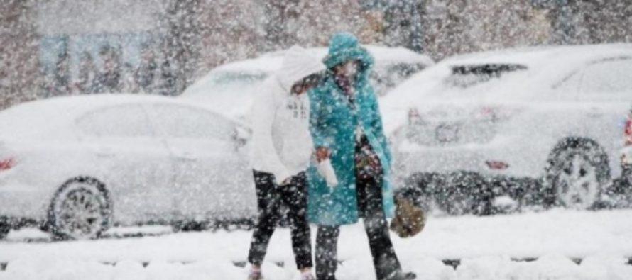 В Бийске от холода и снегопада парализовало движение
