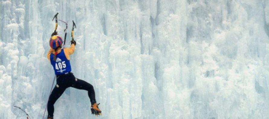 В Алтайском крае прошли соревнования по ледолазанию «Открытие сезона»