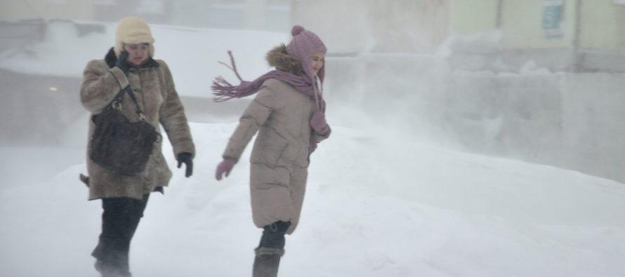В Алтайском крае объявили штормовое предупреждение из-за сильного ветра, снега и метелей