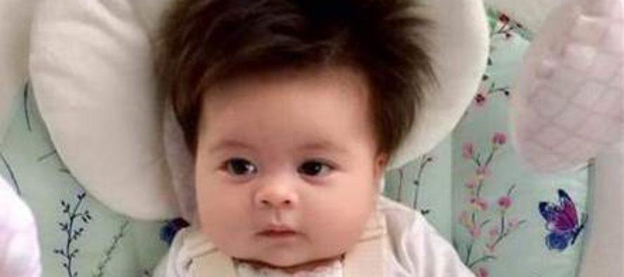 Двухмесячный ребенок поразил пользователей Сети шикарной прической