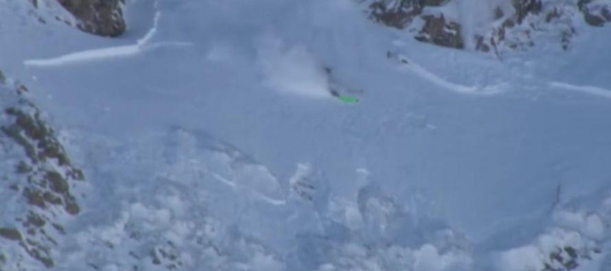 Смоленский лыжник-экстремал снял от первого лица падение с горы в Австрии