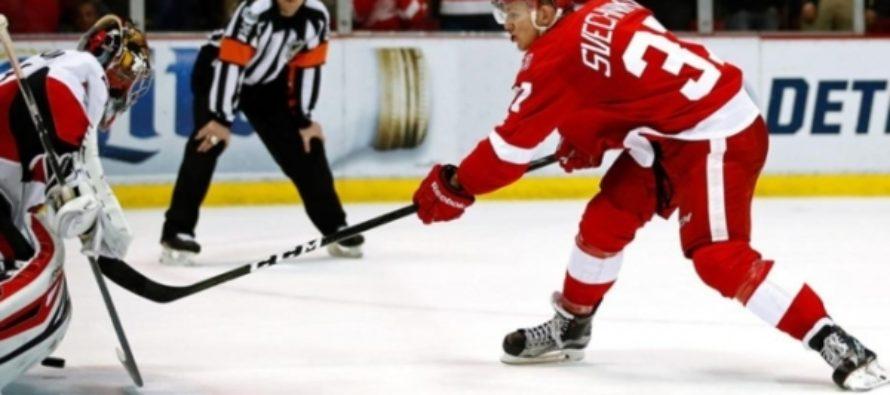 Воспитанник алтайского хоккея дебютировал в НХЛ за команду «Детройт»