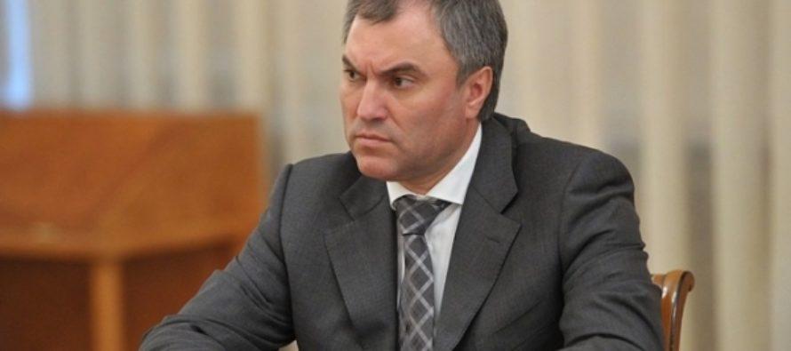Спикер Госдумы предостерег от «закручивания гаек» после питерского теракта