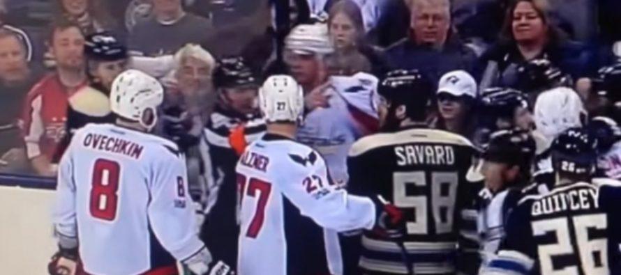 Овечкин спровоцировал массовую драку на матче НХЛ. Видео