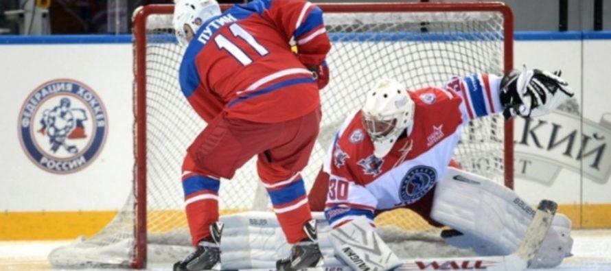 Игрок алтайской команды помог Путину выиграть в матче Ночной хоккейной лиги