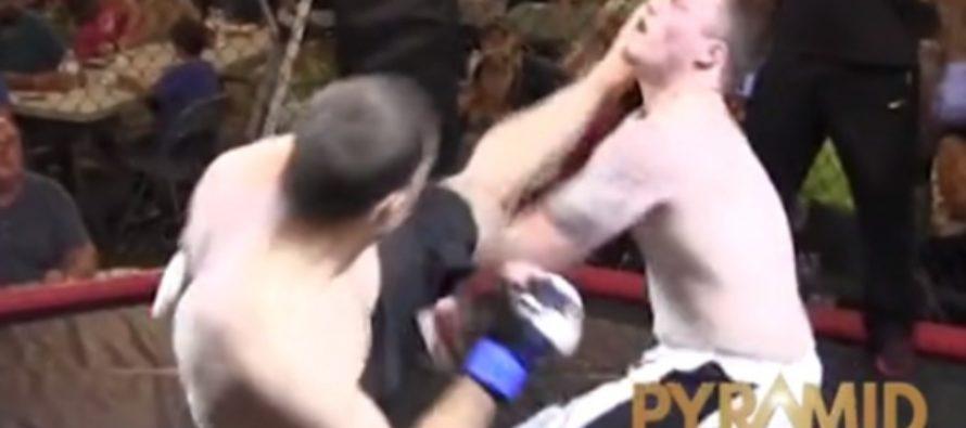 Боец ММА нокаутировал соперника первым ударом на четвертой секунде боя