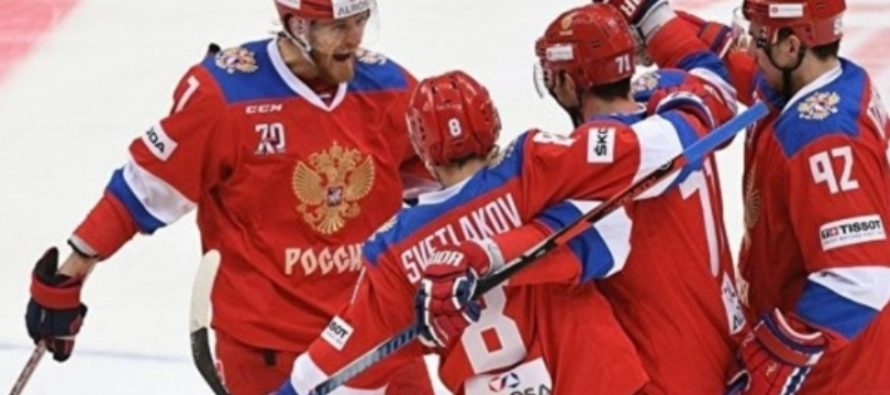 Сборная России за 70 секунд забросила три шайбы в ворота команды Дании