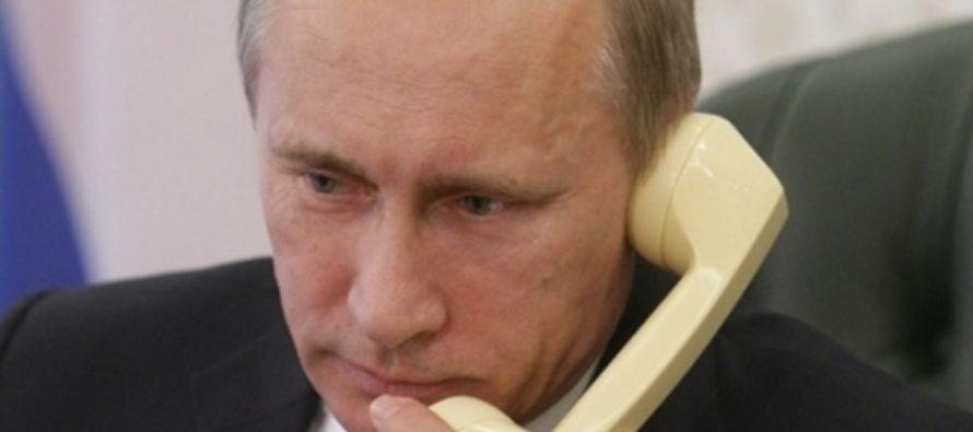 Путин и Порошенко говорили по телефону про Донбасс