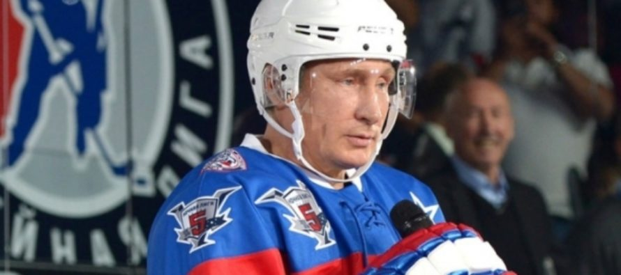 Путин забросил 7 шайб из 17 на матче Ночной хоккейной лиги