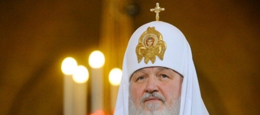 Патриарх Кирилл встретил в Москве мощи святого Николая Чудотворца