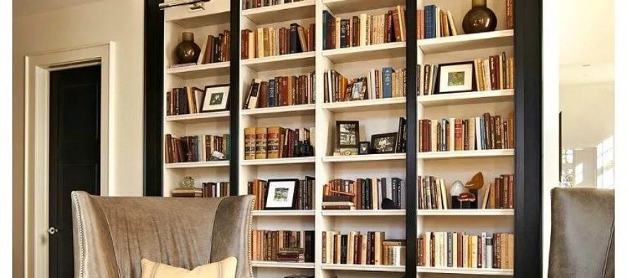 Как грамотно вписать книжный шкаф в интерьер?