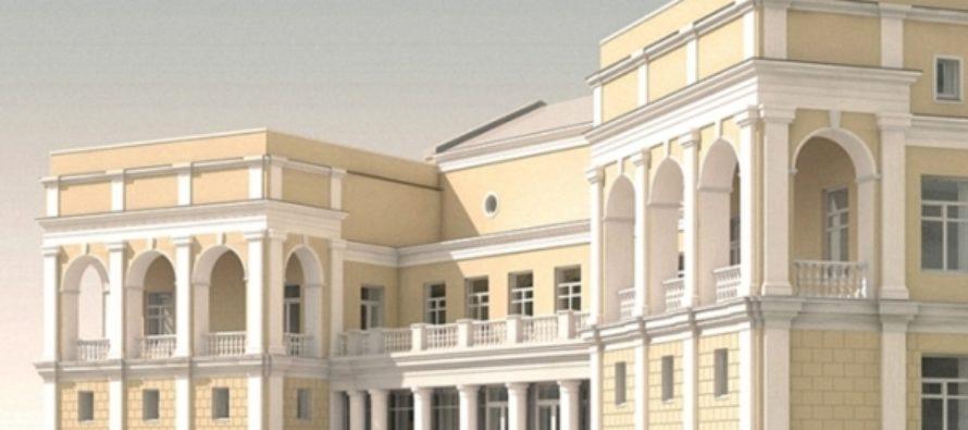 Фасад здания Художественного музея в Барнауле достроят к концу 2017 года