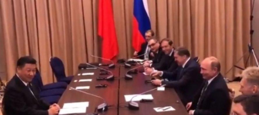 Путин пошутил над опаздывающей делегацией Китая