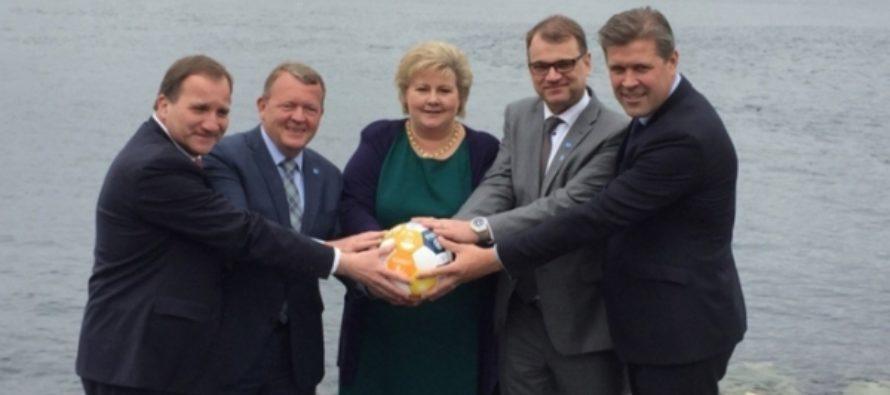 Премьер-министры североевропейских стран «потроллили» Трампа с шаром