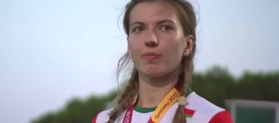 Белорусская легкоатлетка покинула пьедестал из-за ошибки с гимном. Видео
