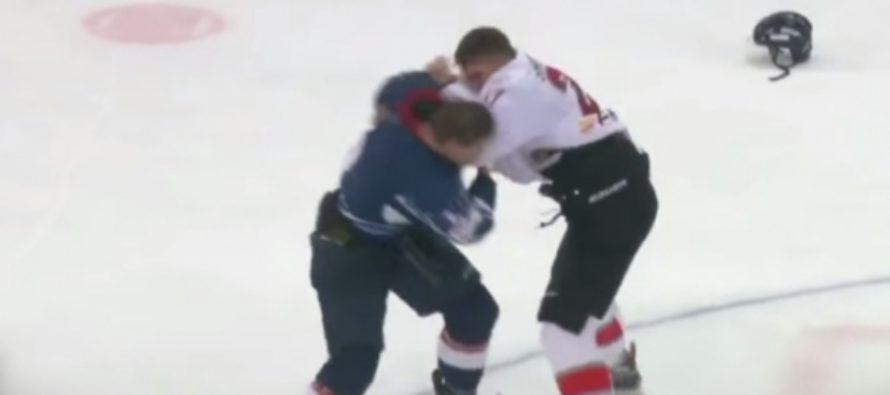 В сети появилось видео драки уроженца Барнаула Щукина и хоккеиста «Кузни»