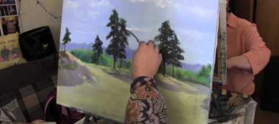 Курсы живописи для взрослых, учимся рисовать ель карандашом