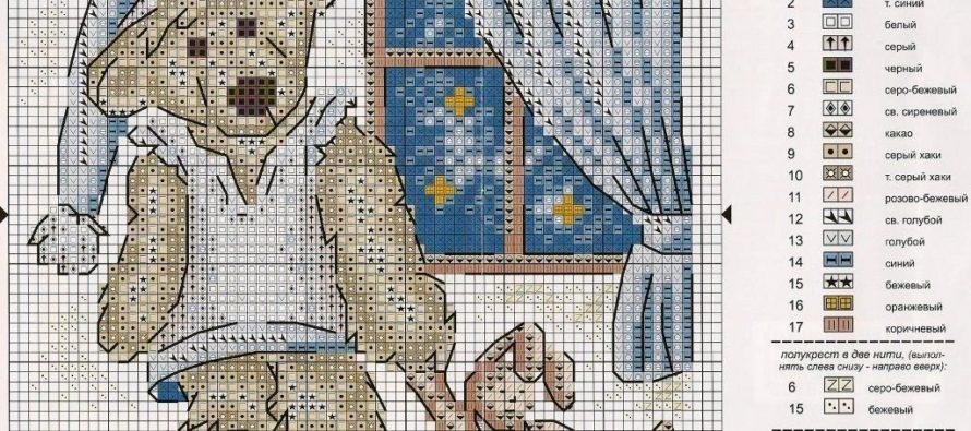 Как правильно читать схемы для вышивки крестом?