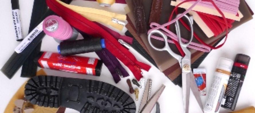 ) Необходимые материалы для ремонта обуви