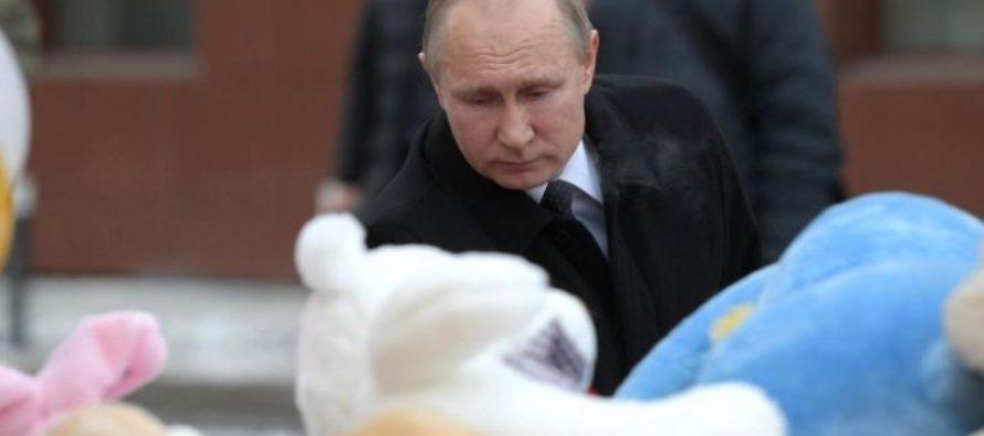 Путин объявил национальный день траура в связи с трагедией в Кемерове