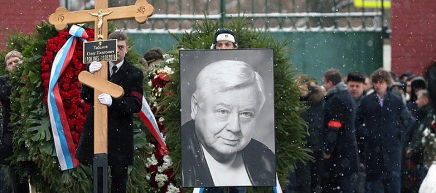 На похоронах Олега Табакова было удивительно много молодых лиц