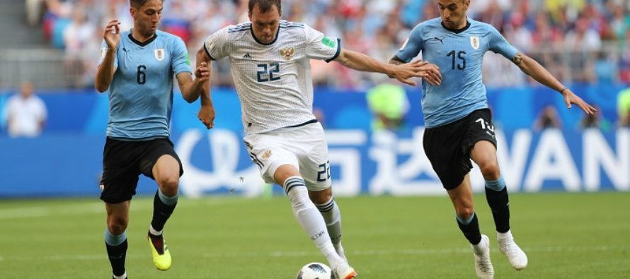 Российские футболисты не сдержали уругвайский ураган