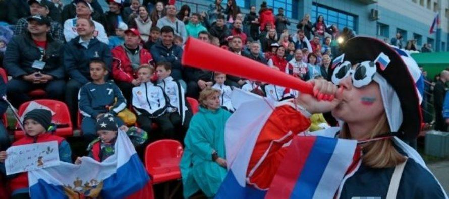 Две тысячи человек болели за Россию в барнаульской фан-зоне